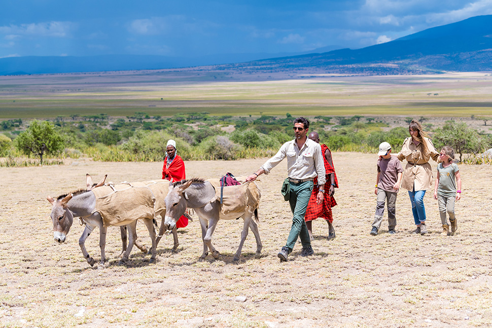 Walking with the Massai